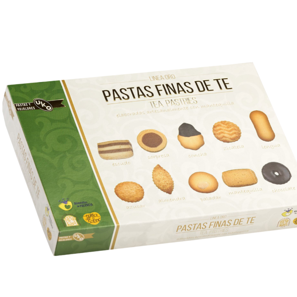 Pastas finas de té 2 - Linea Gourmet - Pastas y Hojaldres Uko